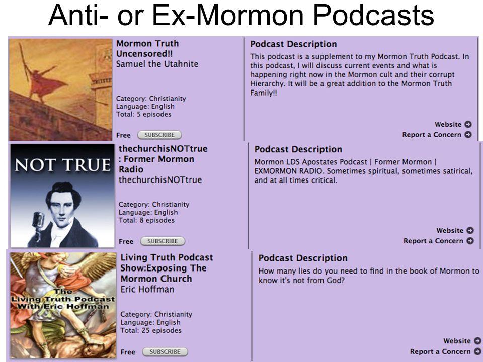 Anti- or Ex-Mormon Podcasts