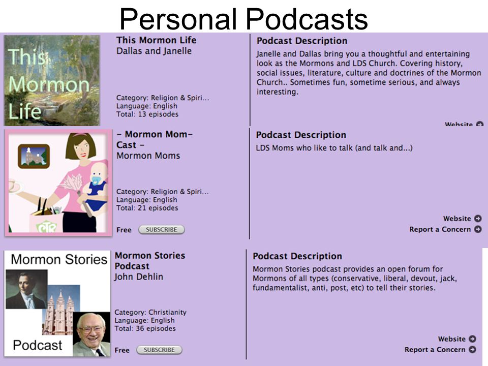 Personal Podcasts