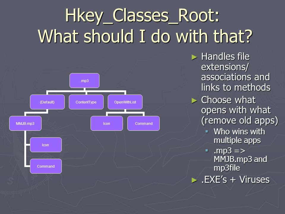Hkey_Classes_Root: What should I do with that.