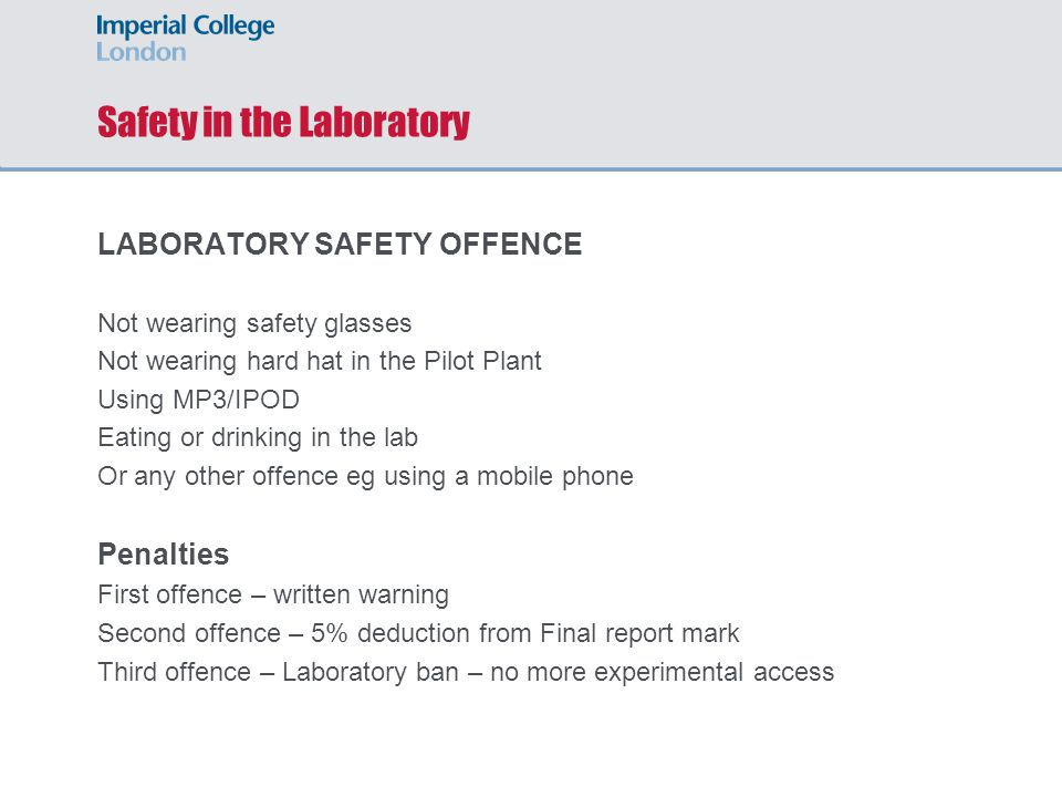 Safety in the Laboratory HANDLING CHEMICALS Wear appropriate PPE.
