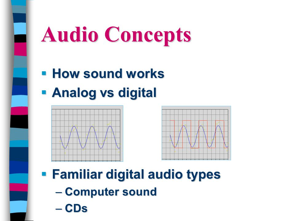 Audio Concepts  How sound works  Analog vs digital