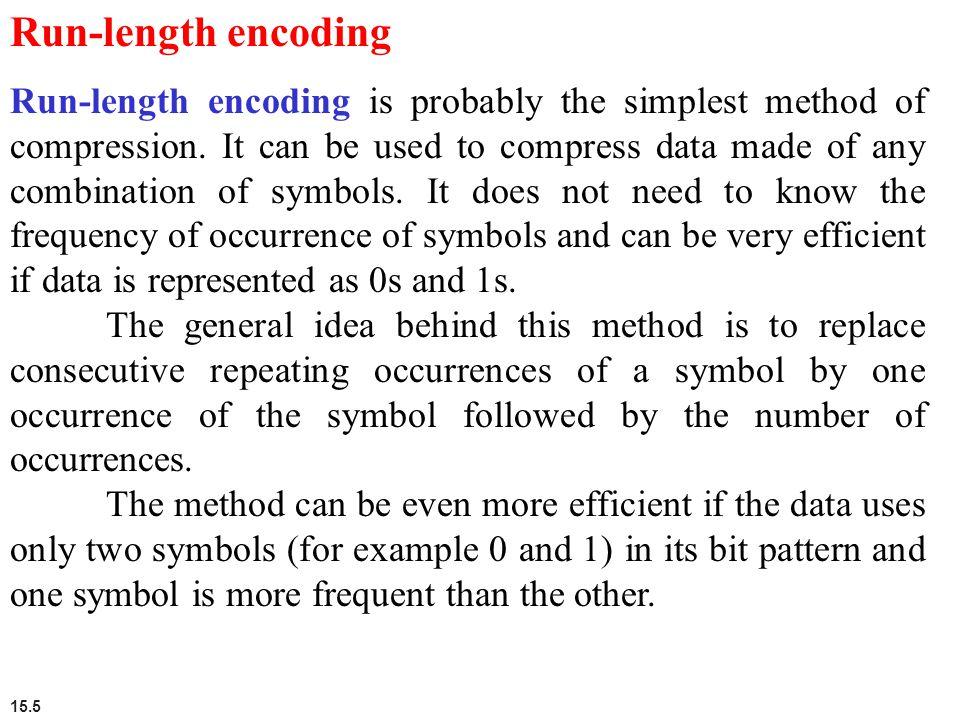 15.6 Figure 15.2 Run-length encoding example