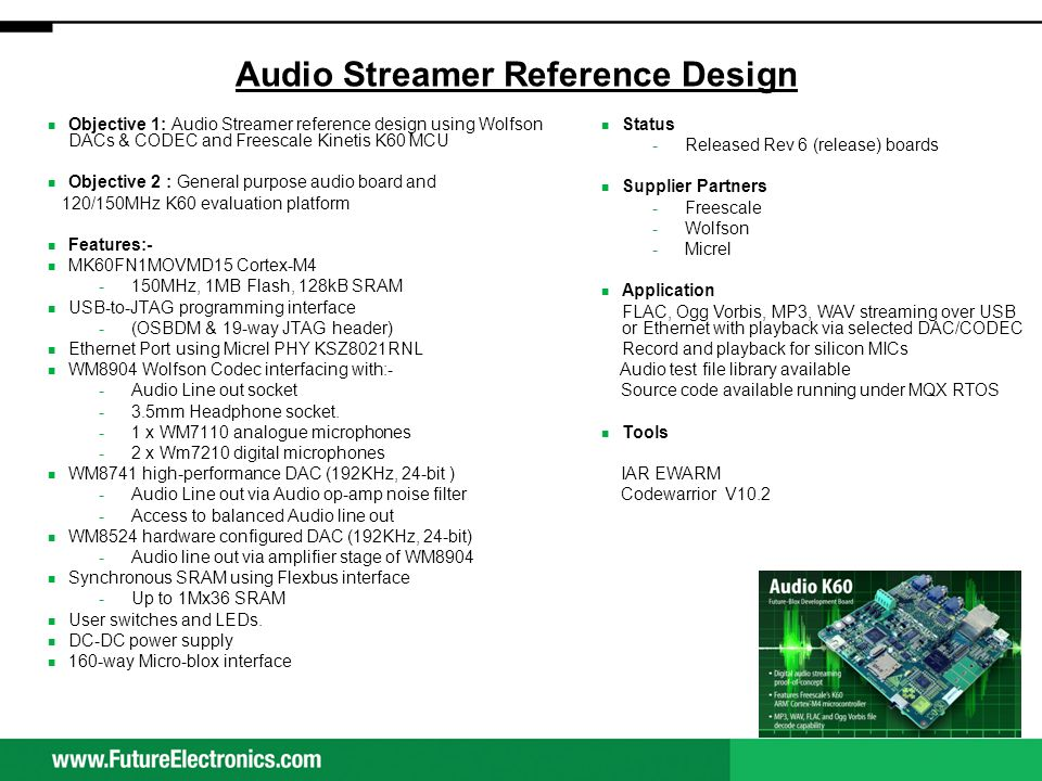 Audio Streamer Block Diagram