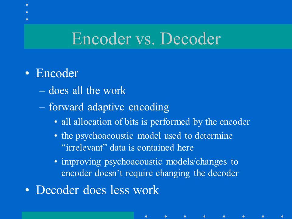 Encoder vs.