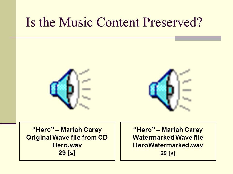 Is the Music Content Preserved.