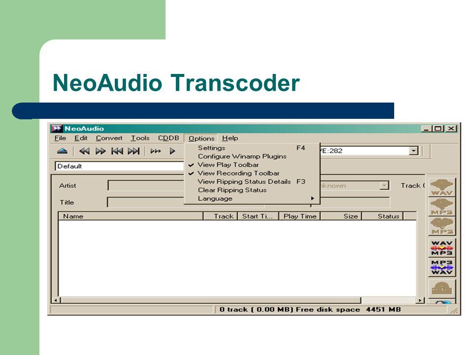 NeoAudio Transcoder