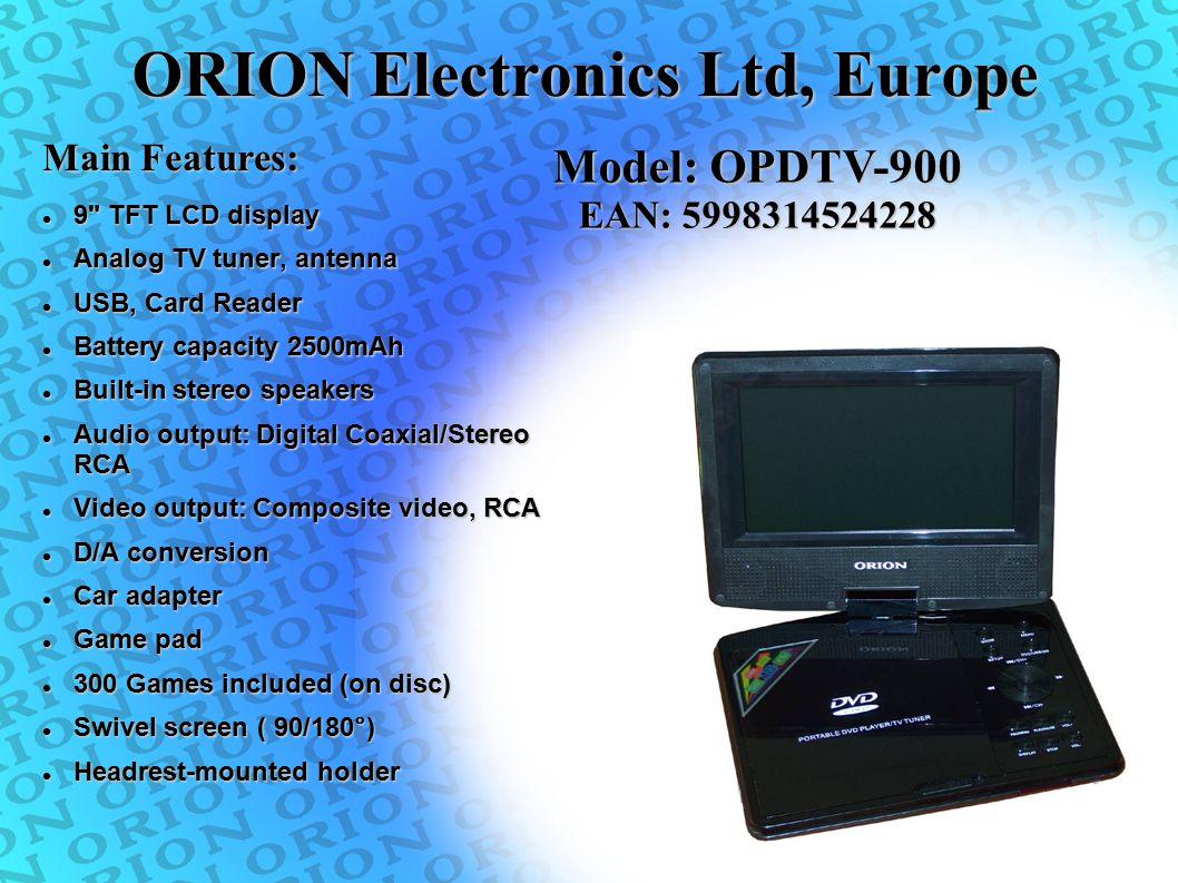 ORION Electronics Ltd, Europe 9