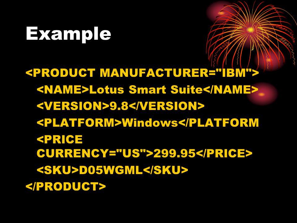 Example Lotus Smart Suite 9.8 Windows</PLATFORM 299.95 D05WGML