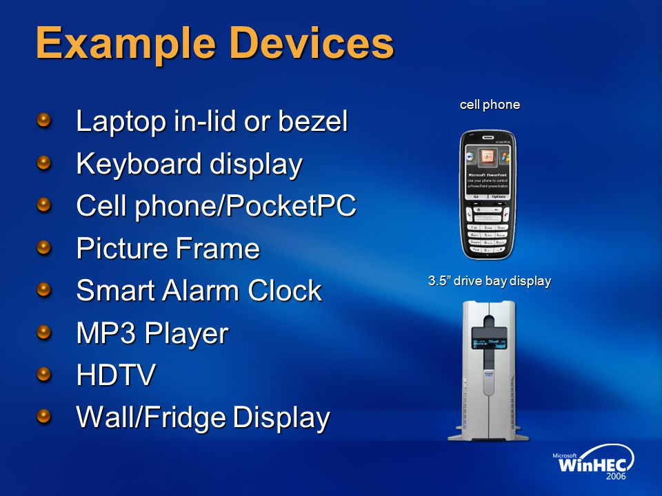 Windows SideShow- Compatible Devices