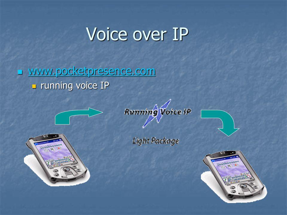 Voice over IP www.pocketpresence.com www.pocketpresence.com www.pocketpresence.com running voice IP running voice IP