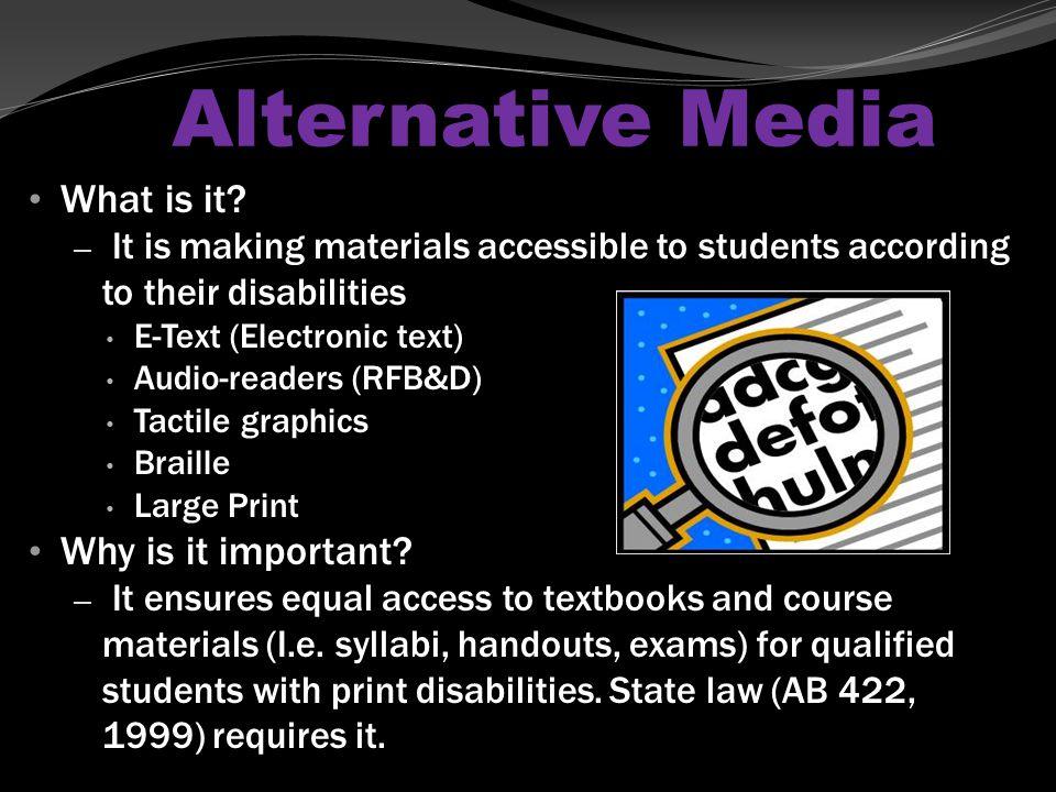 Alternative Media What is it.