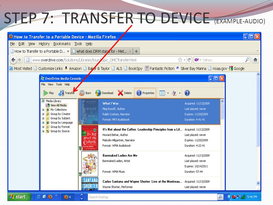 . STEP 7: TRANSFER TO DEVICE (EXAMPLE-AUDIO)
