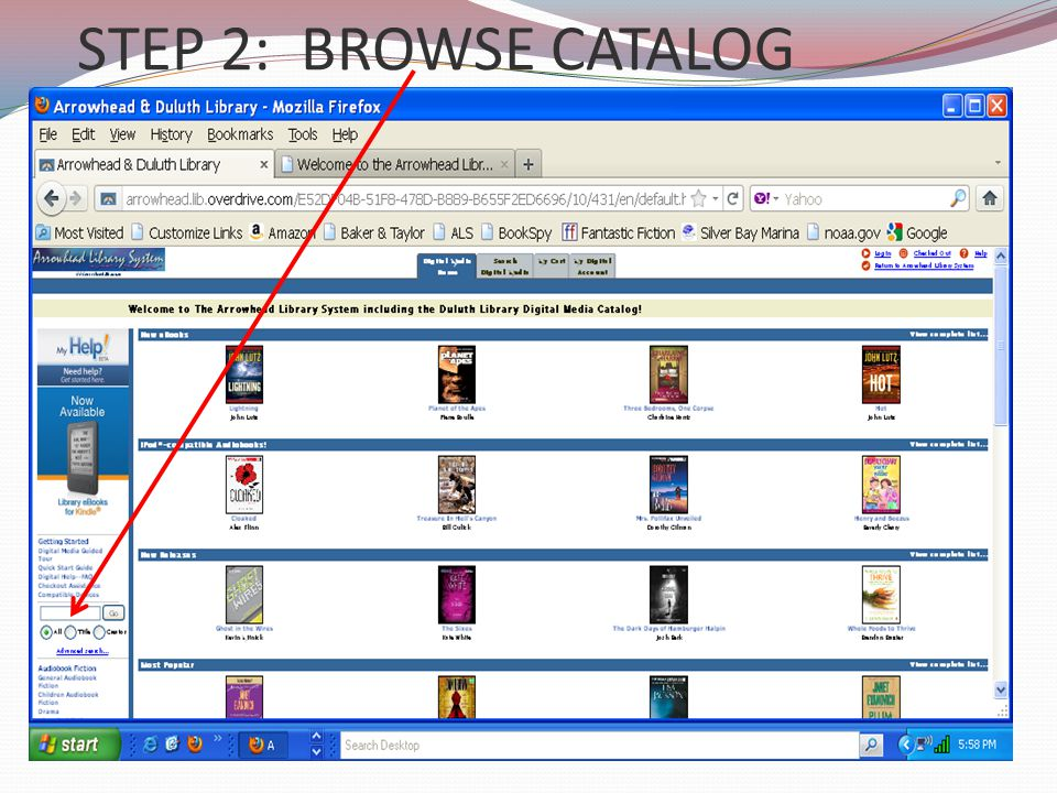 STEP 2: BROWSE CATALOG