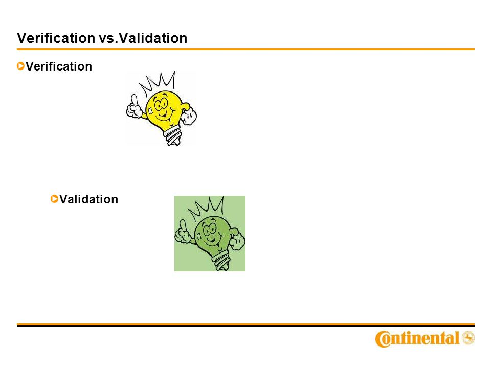 Verification vs.Validation Verification Validation