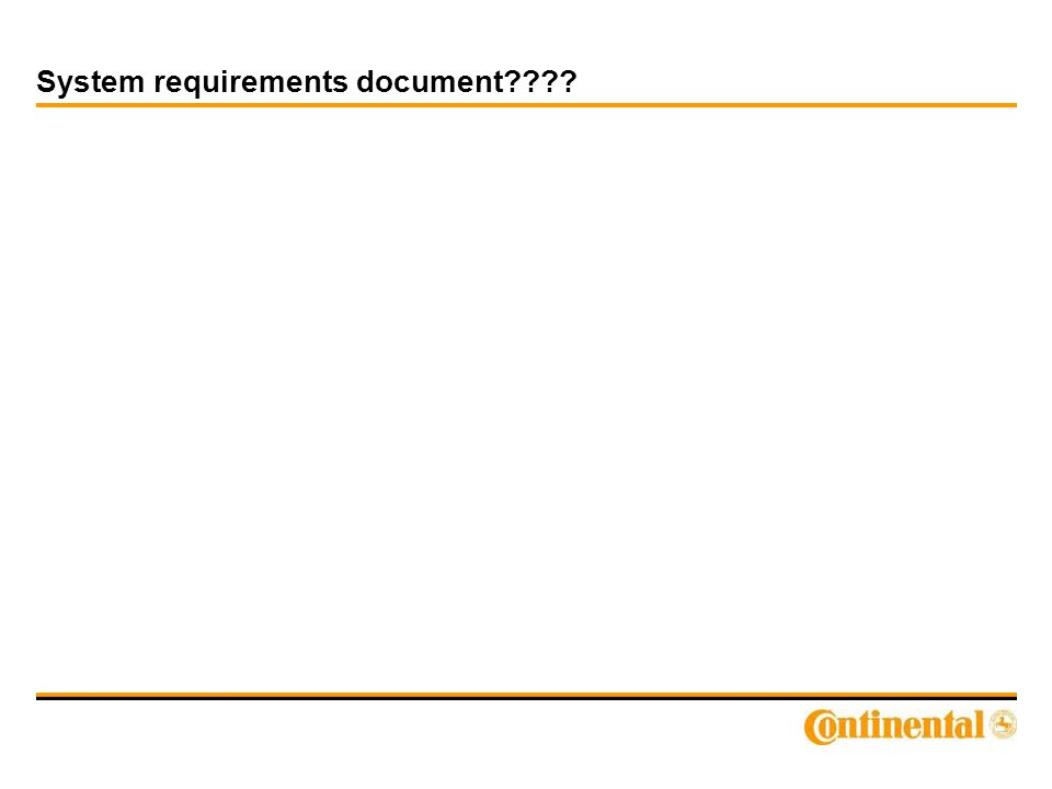 System requirements document????