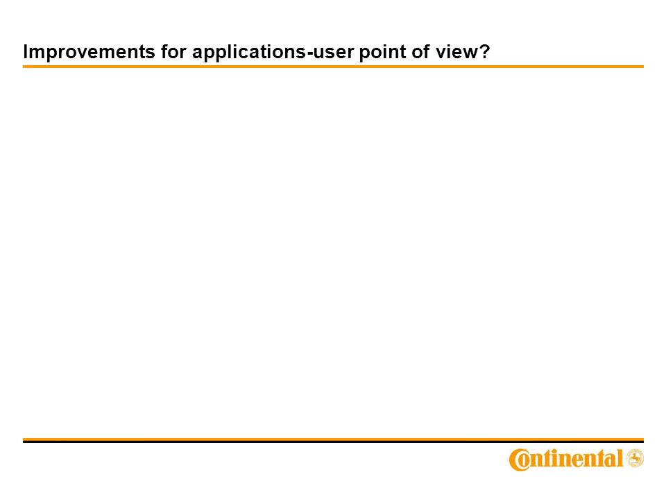 Improvements for applications-user point of view?