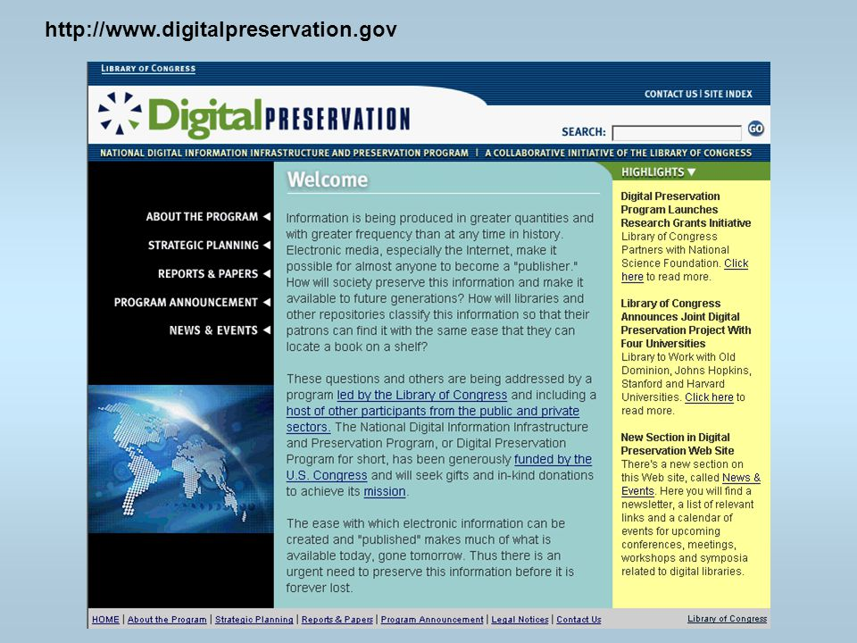 http://www.digitalpreservation.gov