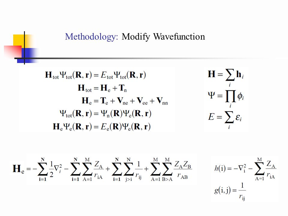Methodology: Modify Wavefunction