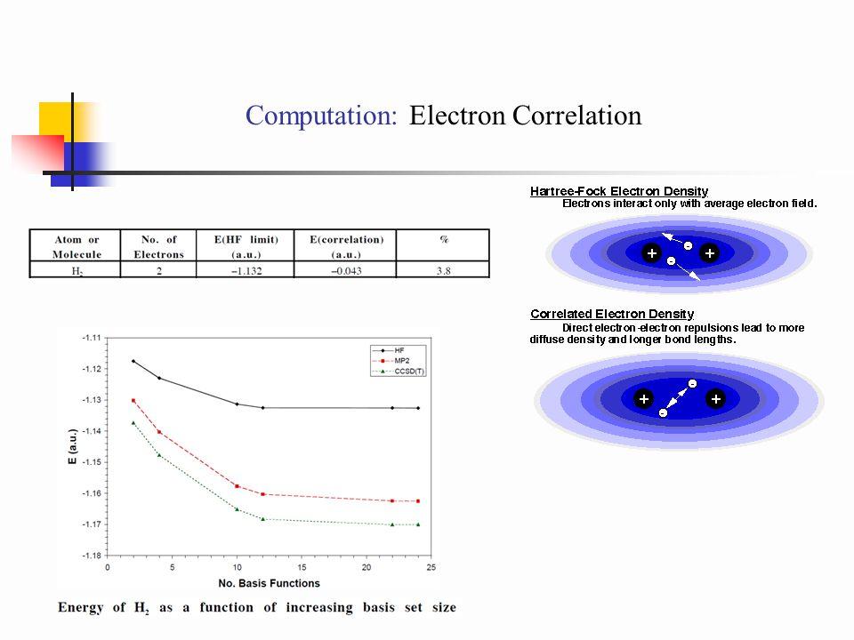 Computation: Electron Correlation
