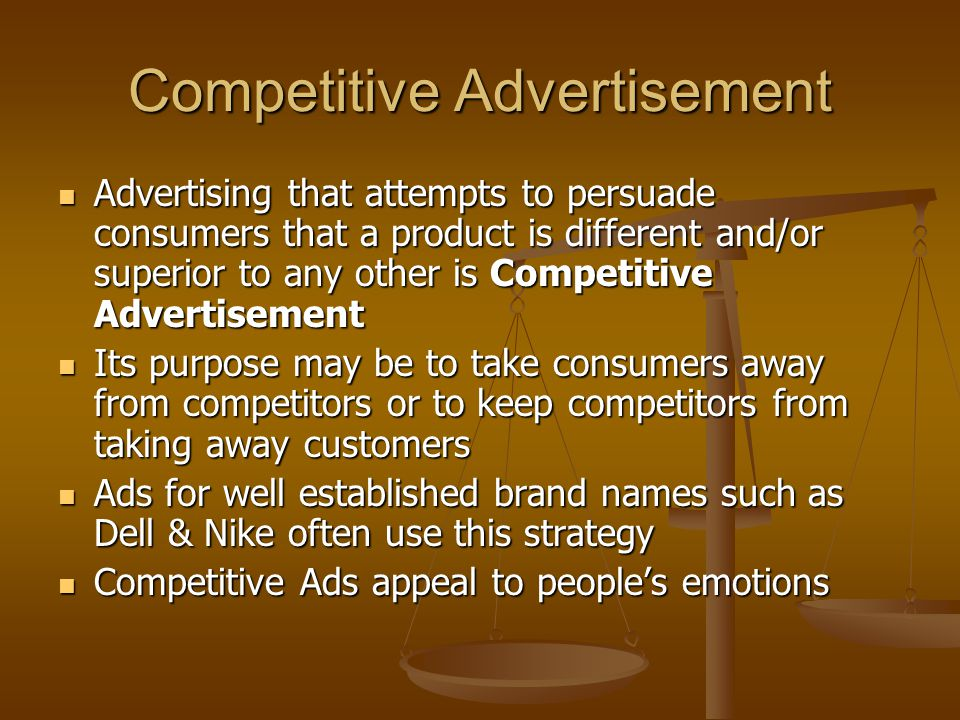 Informative Advertising Informative Advertising benefits consumers by giving information about a product Informative Advertising benefits consumers by giving information about a product From such ads you can simply find out that such items exist.