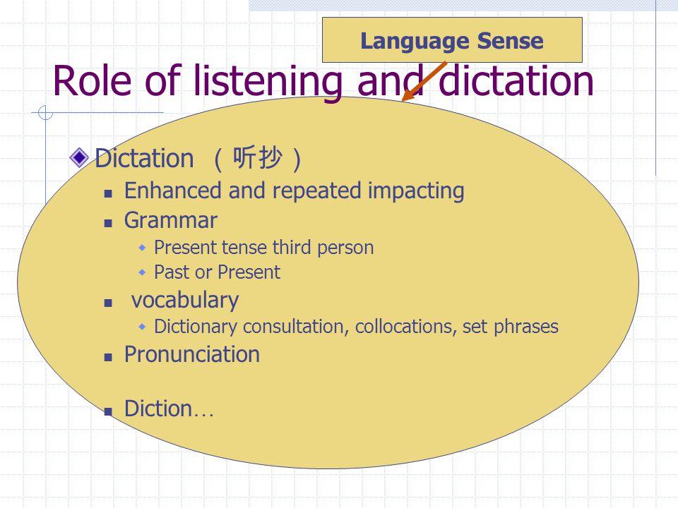 Methods of listening & dictation 1.