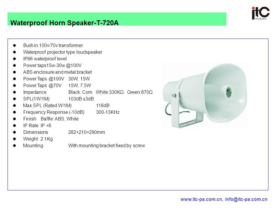Built-in 100v/70v transformer Waterproof projector type loudspeaker IP66 waterproof level Power taps15w-30w @100V ABS enclosure and metal bracket Powe