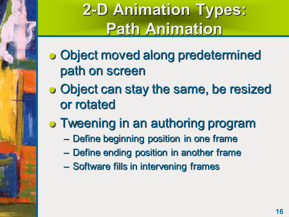 15 2-D Animation Types CelAnimationCelAnimation