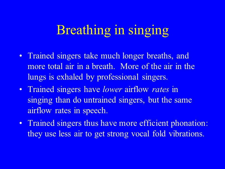 10. Aerodynamics Normal breathing: about.5 liters 12 times/minute, with active inspiration and passive expiration. –Muscles of expansion: external int