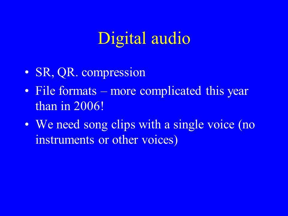Example: lyrics + articulation Melinda Doolittle vs. Gregorian chant