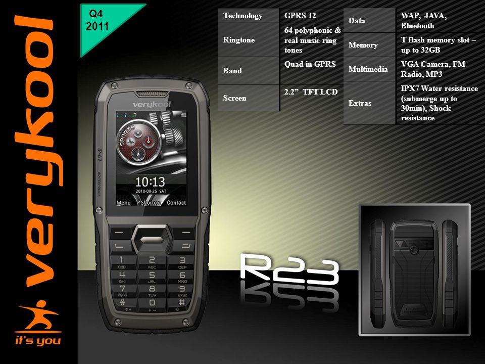 "Q4 2011 Technology GPRS 12 Ringtone 64 polyphonic & real music ring tones Band Quad in GPRS Screen 2.2"" TFT LCD Data WAP, JAVA, Bluetooth Memory T fla"