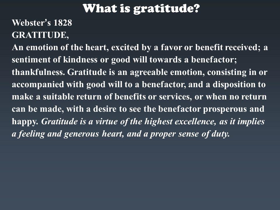 Does gratitude come naturally.