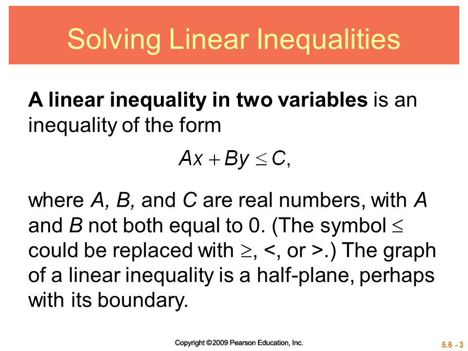 5.6 - 34 Fundamental Theorem of Linear Programming If an optimal value for a linear programming problem exists, it occurs at a vertex of the region of feasible solutions.