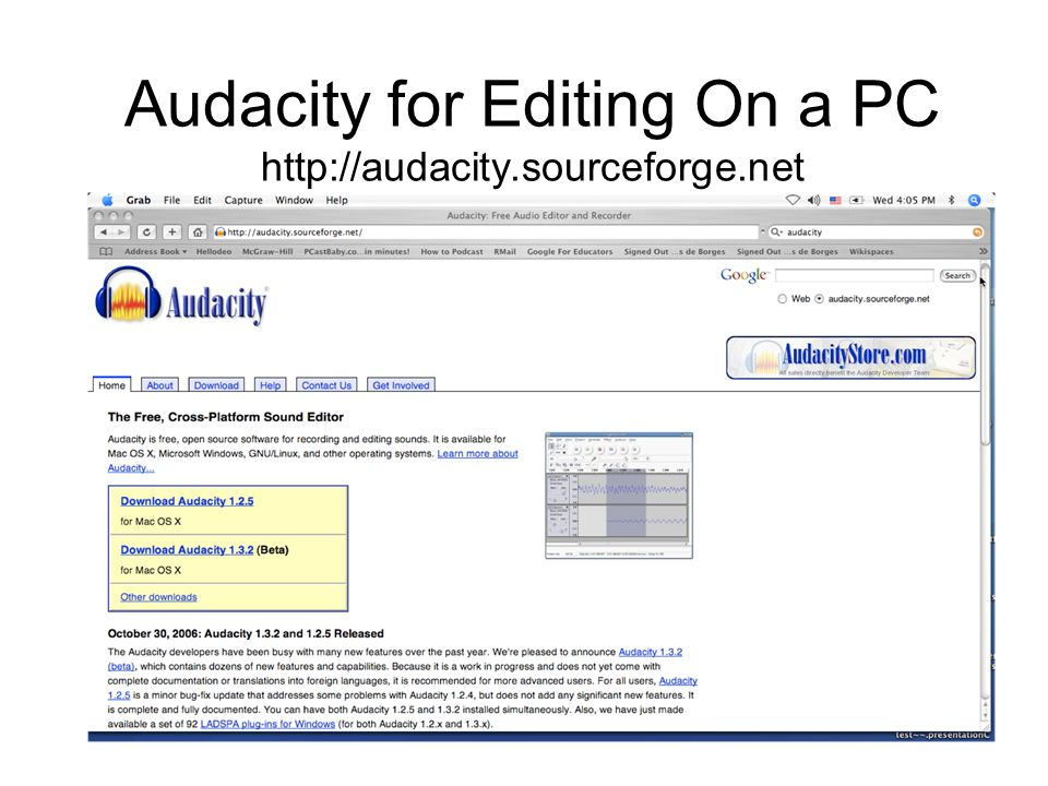 Audacity for Editing On a PC http://audacity.sourceforge.net