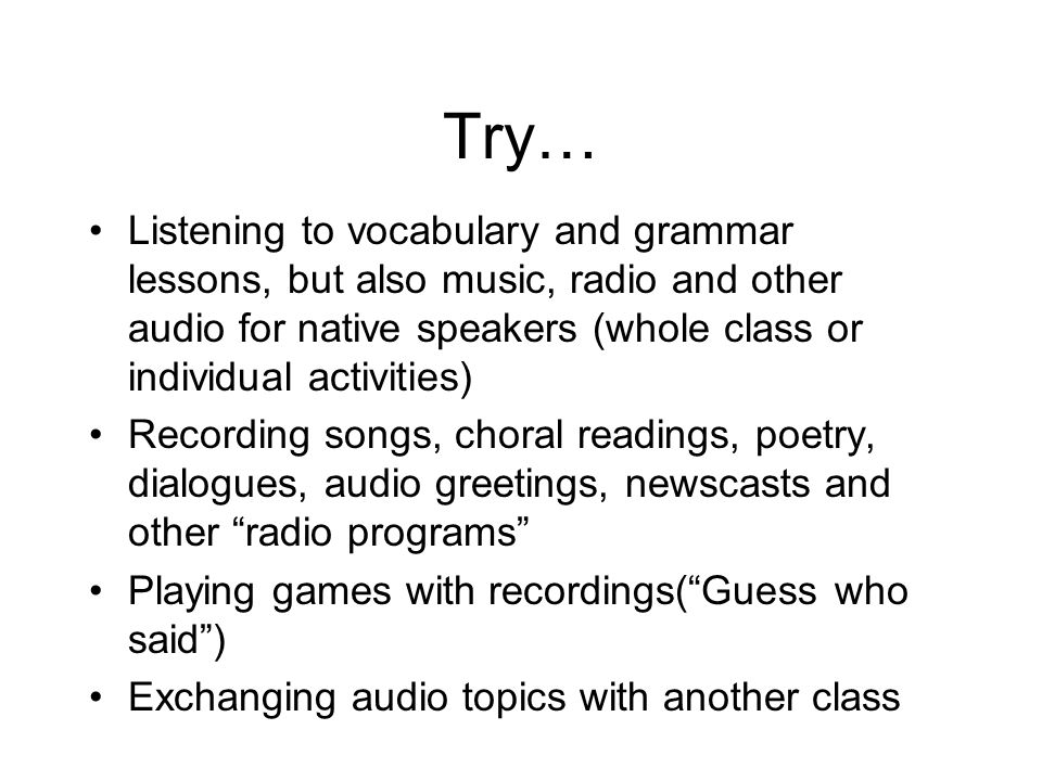 Music In addition to the sources available via the link provided on the previous slide, try: Royalty Free Music http://www.royaltyfreemusic.com/ Sound Snap (sound effects) http://www.soundsnap.com/browse Freeplay Music http://www.freeplaymusic.com Podsafe Music Network http://music.podshow.com