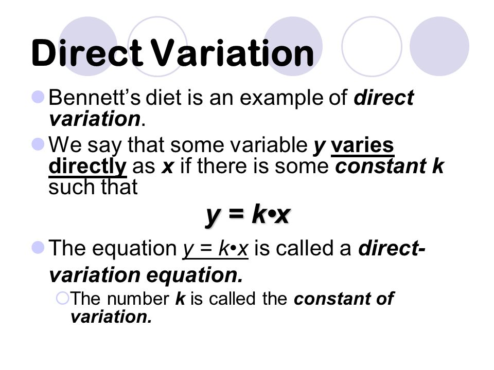Combined Variation Combined variation occurs when a quantity varies directly with the product of two or more other quantities.