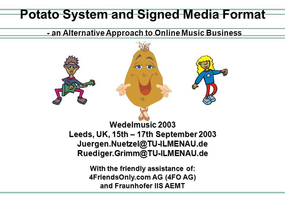 2003/09/15Wedelmusic 2003, Leeds, UK, Juergen.Nuetzel@tu-ilmenau.de 2 At a Glance...