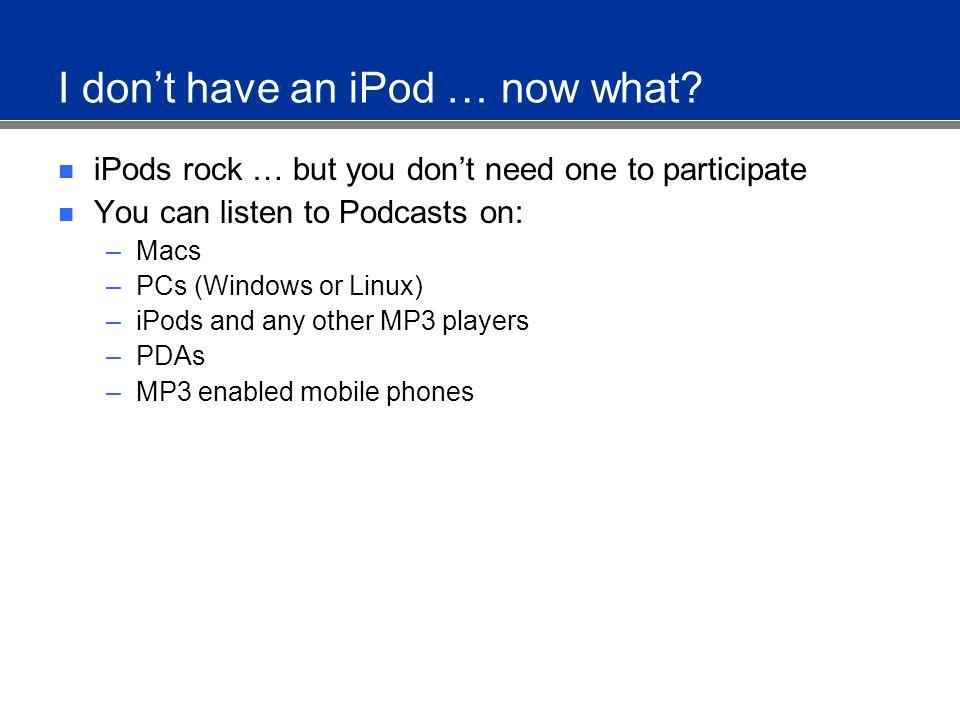 Subscribing to Podcasts Mac iPodder iPodderX NetNewsWire (2.0 beta) Jäger Sparks.