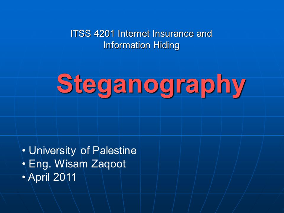 Steganography University of Palestine Eng.