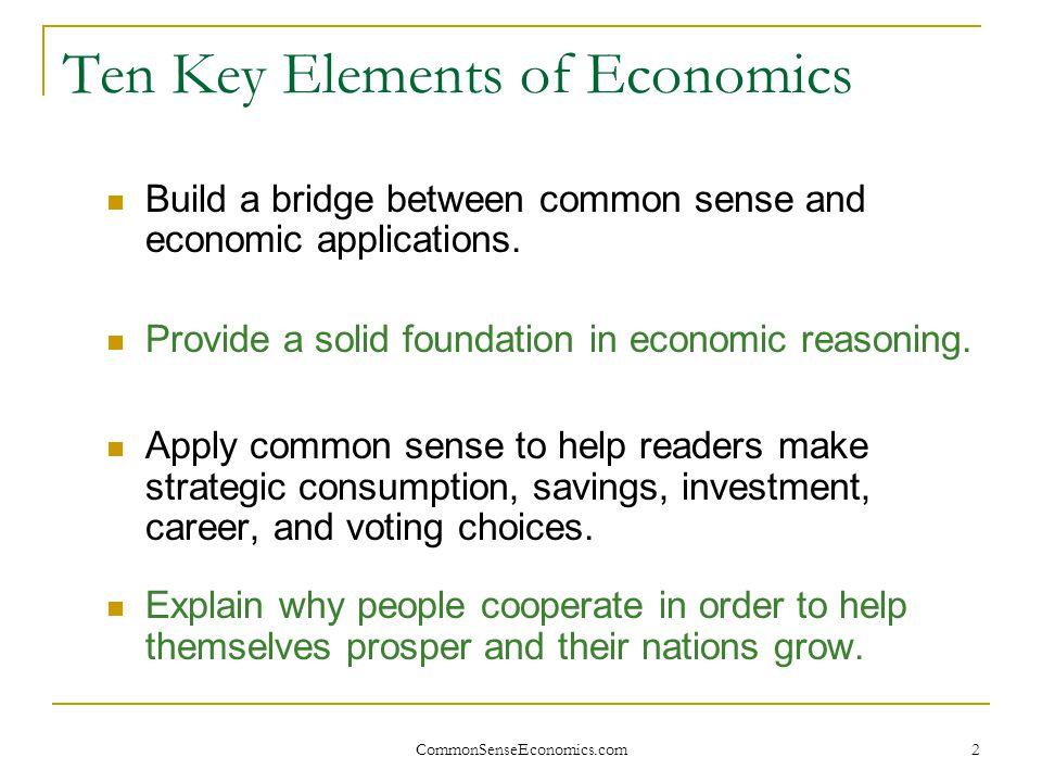 CommonSenseEconomics.com 23 Profits: Friend or Foe.