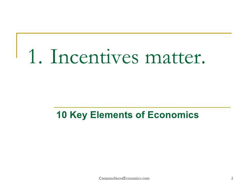 CommonSenseEconomics.com 24 Losses Are Important.