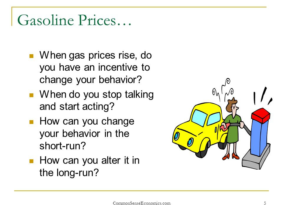 6 Incentives: Producers and Consumers What is the main incentive of the producer.