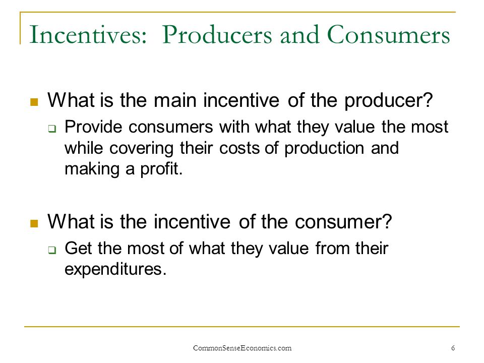 CommonSenseEconomics.com 17 People Gain When They Trade Trade (Voluntary Exchange) Moves goods and services from people who value them less to people who value them more.