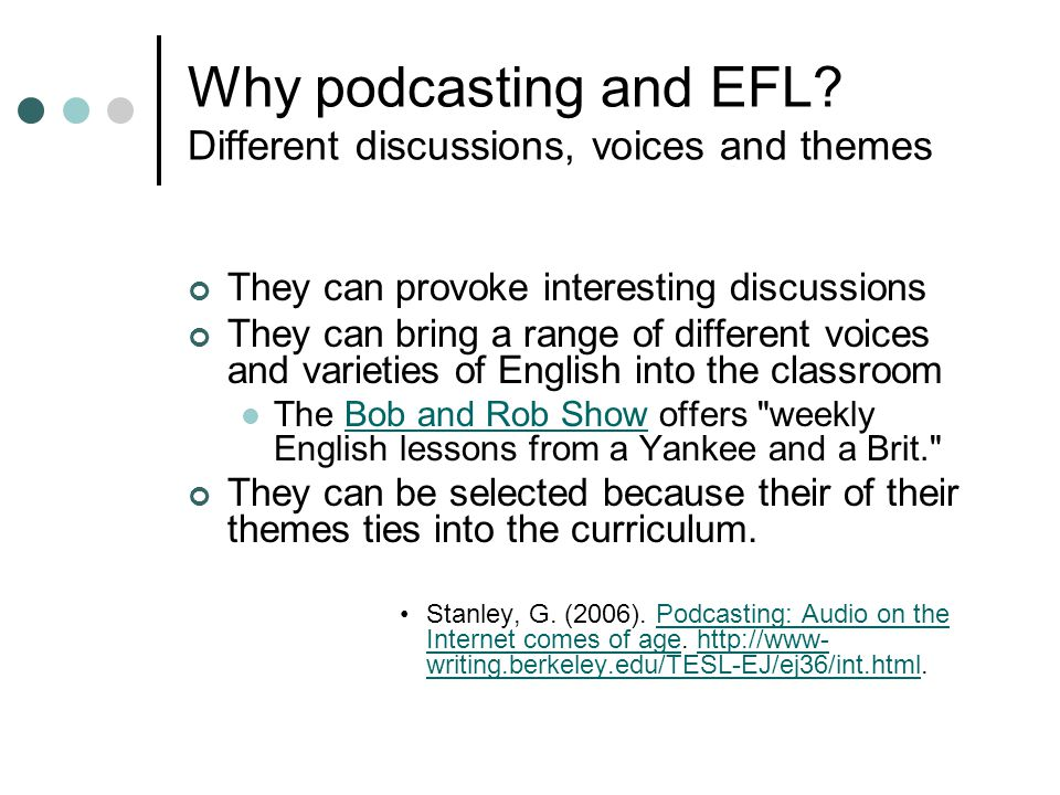 Why podcasting and EFL.