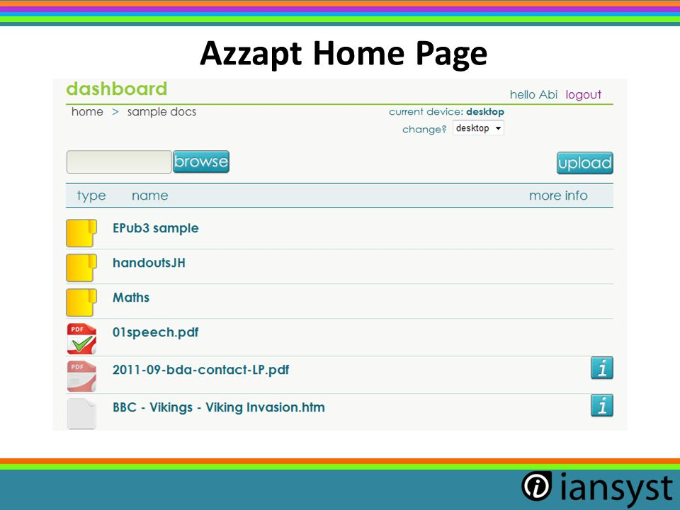 Azzapt Home Page