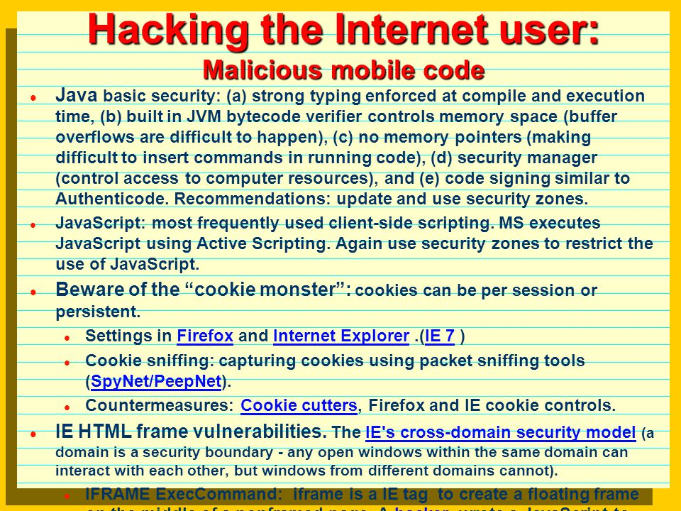 Hacking the Internet user: E-mail hacking basics: (i)create a text file using the correct MIME syntax, (ii) use netcat to send the message to an open relay SMTP server, (iii) check the results.