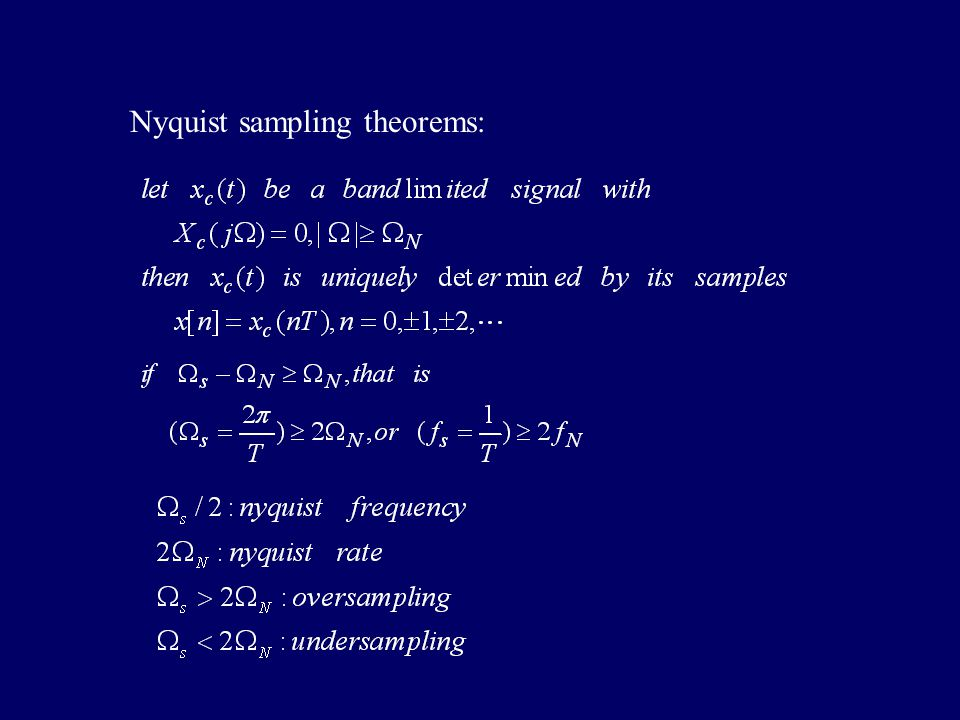 3.Nyquist sampling theorems