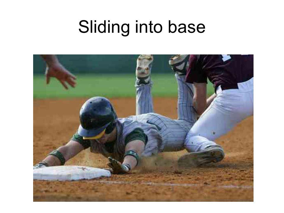 Sliding into base