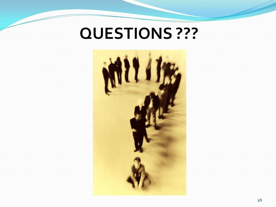 26 QUESTIONS ???