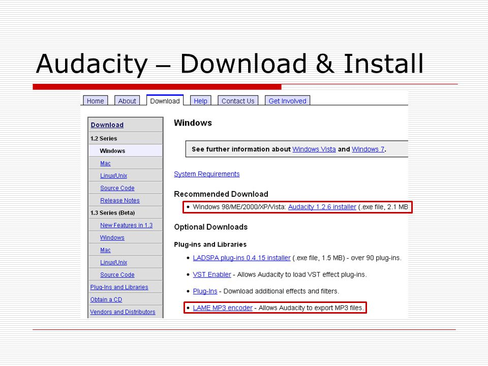 Audacity – Download & Install