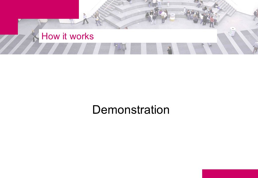 How it works Demonstration